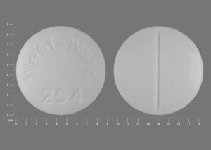 Pill Imprint West-Ward 254 (Hydrocortisone 20 mg)