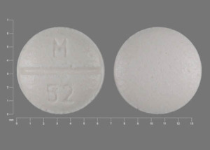Pill Imprint M 52 (Pindolol 5 mg)