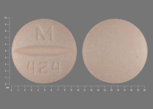 Pill Imprint M 424 (Hydrochlorothiazide and metoprolol tartrate 25 mg / 50 mg)