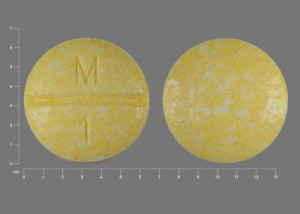 Pill Imprint M 1  (Methotrexate Sodium 2.5 mg)