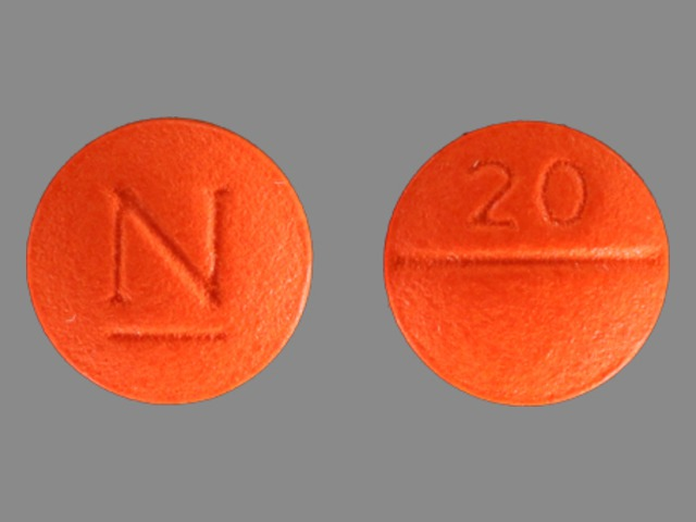 Pill Imprint 20 N (BiDil 37.5 mg / 20 mg)