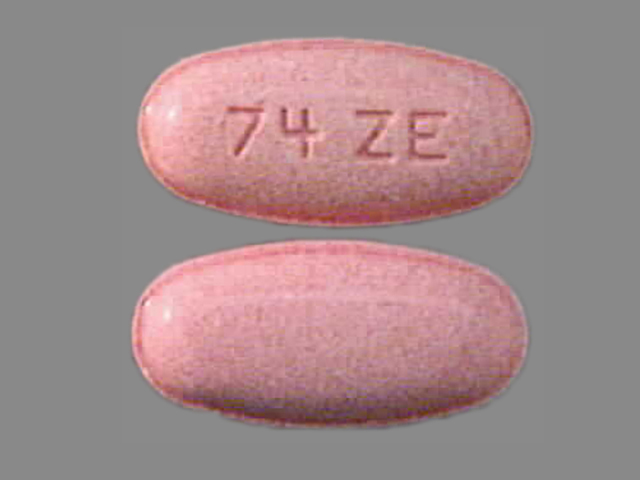 Pill Imprint 74 ZE (Erythromycin Ethylsuccinate 400 mg)