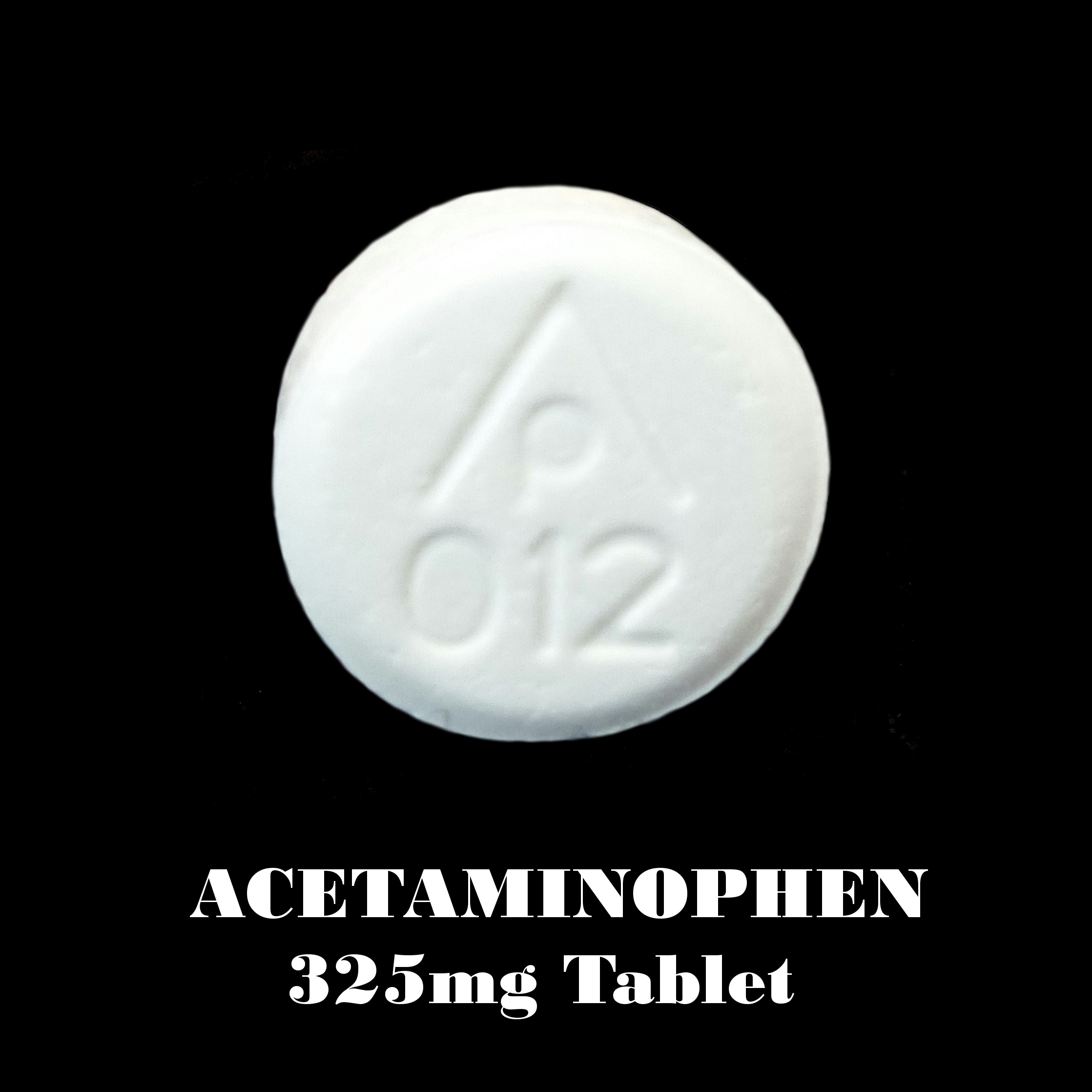 Acetaminophen 325 mg AP 012