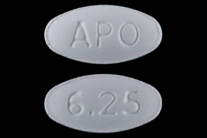 Carvedilol 6.25 mg APO 6.25
