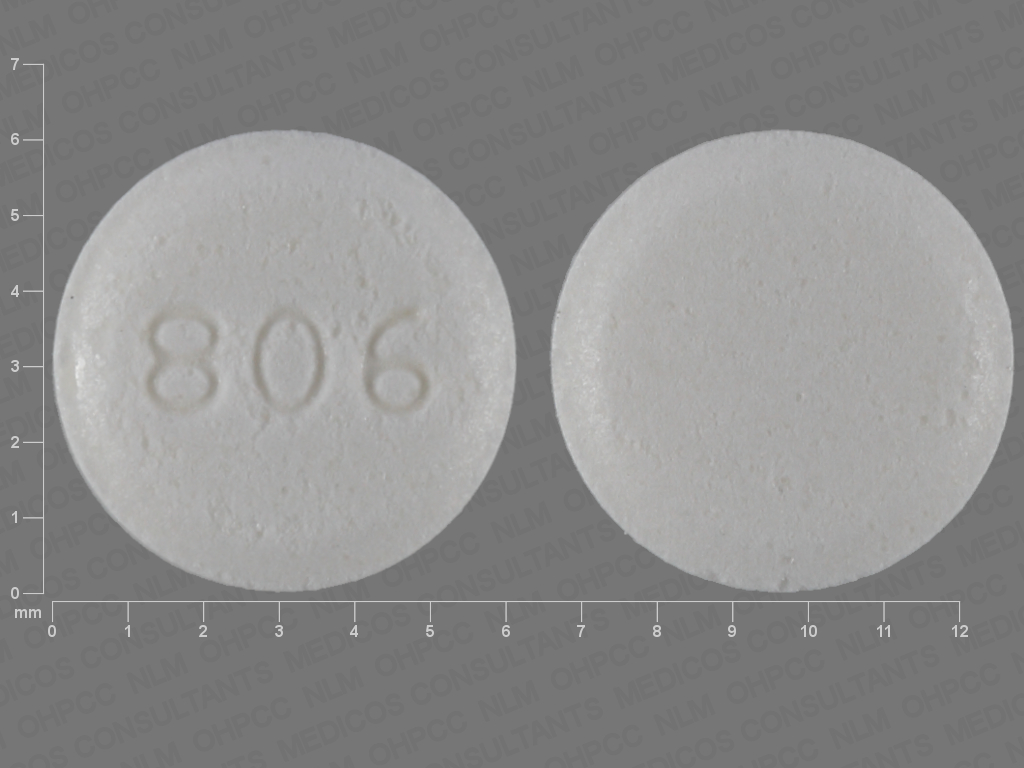 Pill Imprint 806 (Ivermectin 3 mg)