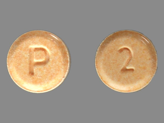 Pill Imprint P 2 (Dilaudid 2 mg)