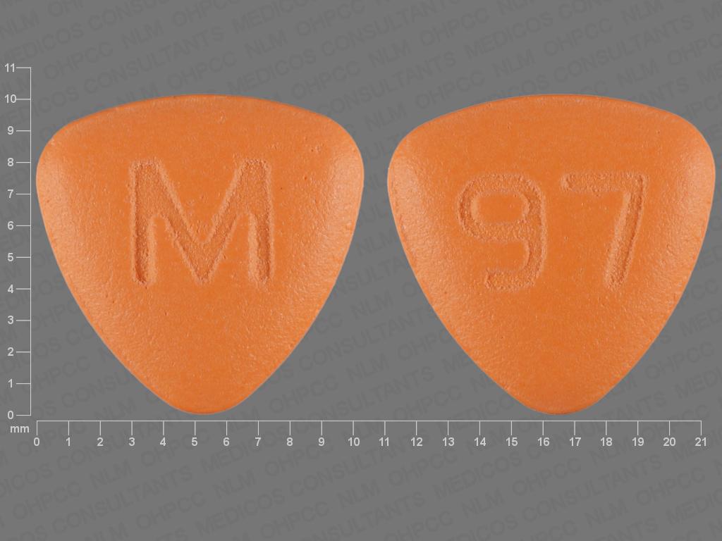 Pill Imprint M 97 (Fluphenazine Hydrochloride 10 mg)