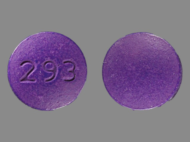 Pill Imprint 293  (UR N-C hyoscyamine 0.12 mg / methenamine 81.6 mg / methylene blue 10.8 mg / phenyl salicylate 36.2 mg / sodium phosphate monobasic 40.8 mg)
