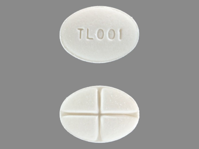 Pill Imprint TL 001 (Methylprednisolone 4 mg)