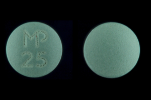 Mp 25 Pill Images Green Round