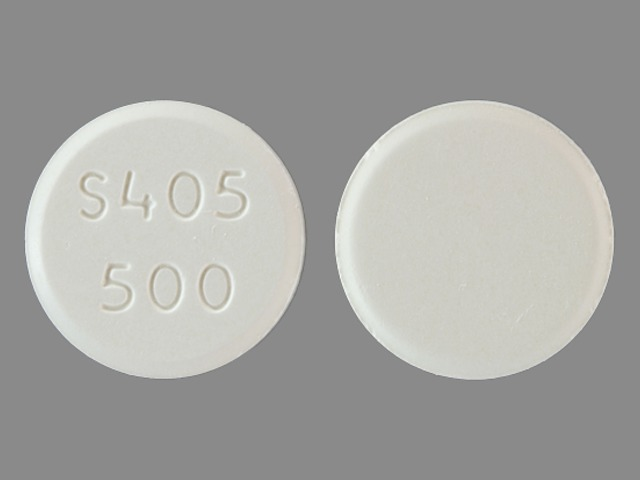 Pill Imprint S405 500  (Fosrenol 500 mg)
