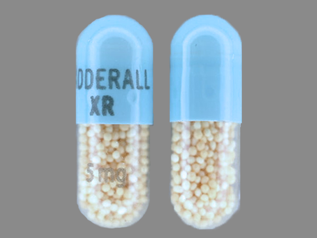 Adderall Xr 5 Mg Pill Images Blue Capsule Shape