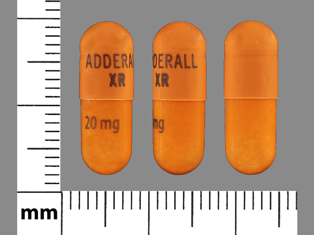 Adderall XR 20 mg SHIRE 381 20mg