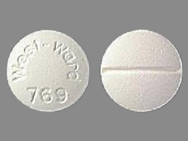 Isosorbide dinitrate 5 mg West-ward 769