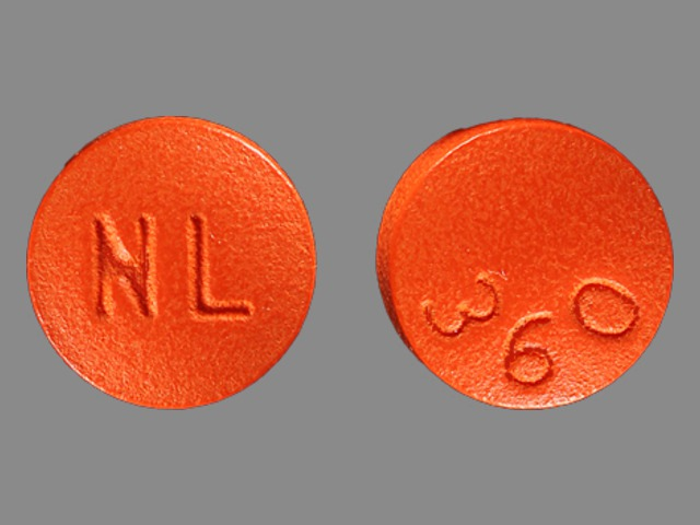 Pill Imprint NL 360 (Phenelzine Sulfate 15 mg)