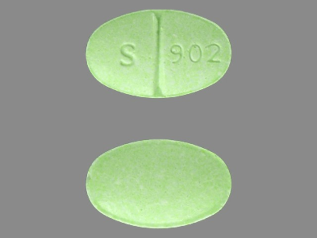 S 902 Pill Images Green Elliptical Oval
