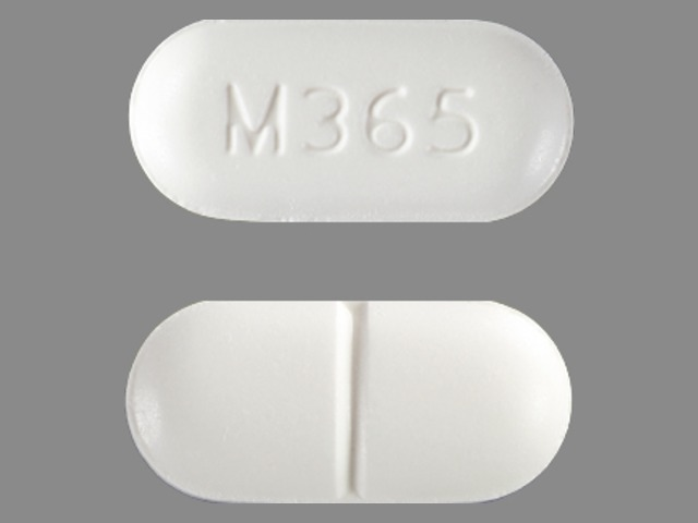 Acetaminophen and hydrocodone bitartrate 325 mg / 5 mg M365