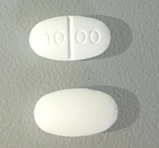 Metformin hydrochloride 1000 mg 10 00