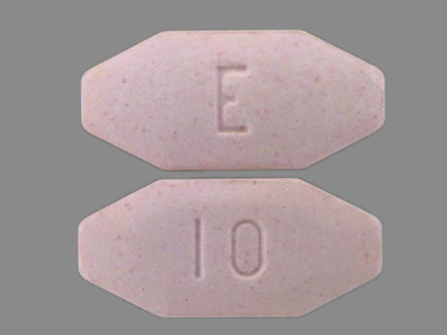 Pill Imprint E 10 (Zydone 400 mg / 10 mg)