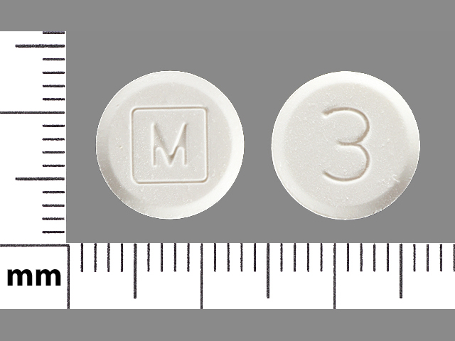 Pill Imprint M 3 (Acetaminophen and Codeine Phosphate 300 mg / 30mg)