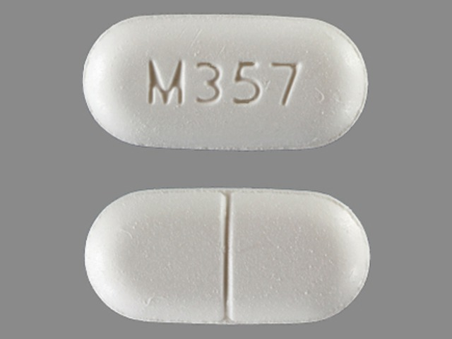 Acetaminophen and hydrocodone bitartrate 500 mg / 5 mg M357