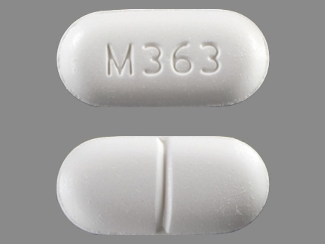 Acetaminophen and Hydrocodone Bitartrate M363