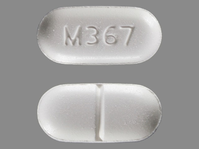 Acetaminophen and Hydrocodone Bitartrate M367