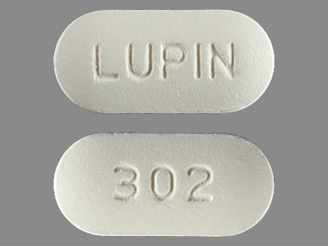 Pill Imprint 302 LUPIN (Cefuroxime Axetil 250 mg)