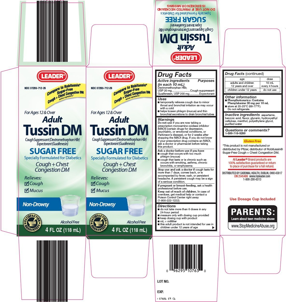 Leader Adult Tussin DM (solution) Cardinal Health