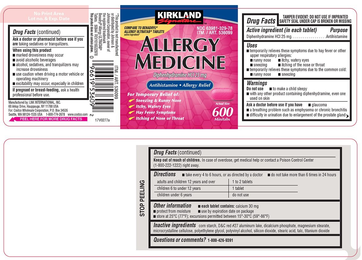Allergy Medicine (tablet) COSTCO WHOLESALE CORPORATION