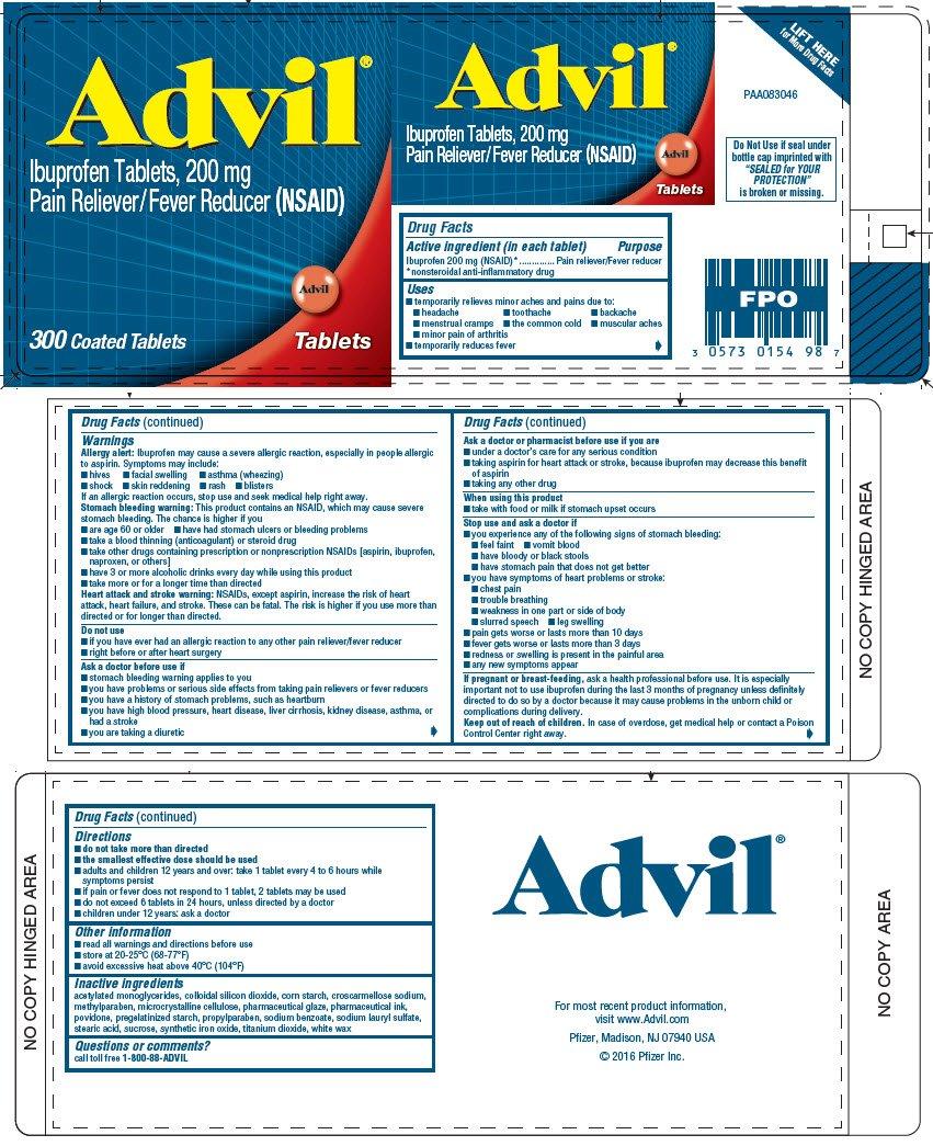 ADVIL (tablet, coated) Wyeth Consumer Healthcare LLC