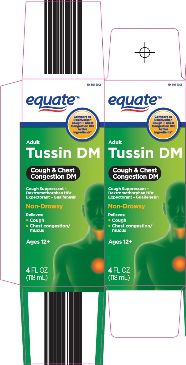 Equate Tussin Dm Adult Solution Wal Mart Stores Inc