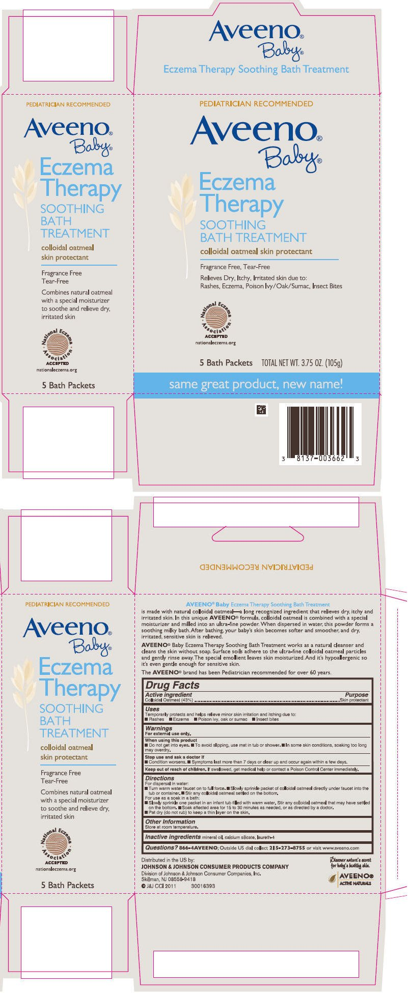 Aveeno Baby Eczema Therapy Soothing Bath Treatment Powder Johnson