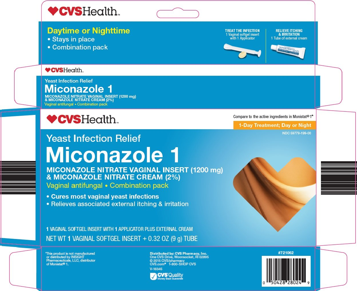 miconazole 1 yeast infection relief  kit  cvs pharmacy