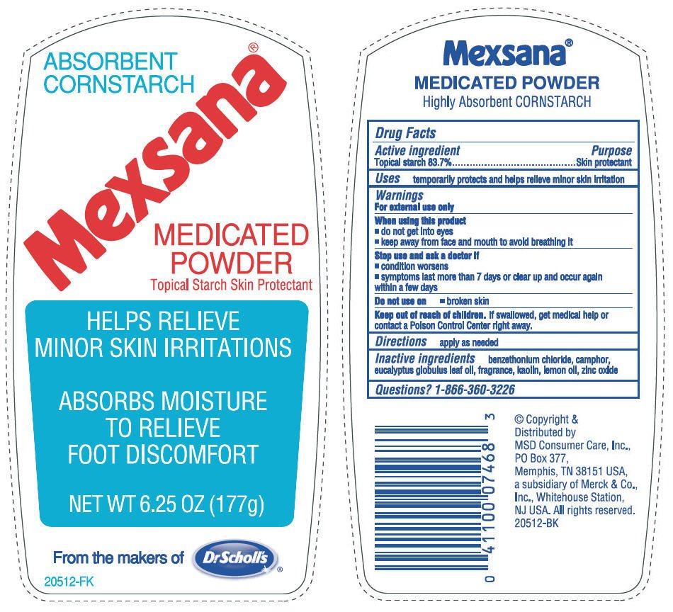 Mexsana Medicated Msd Consumer Care Inc Starch Corn