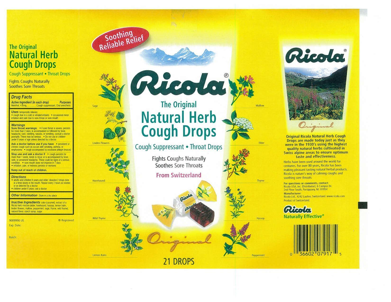 Ricola Original Nutrition Facts Nutrition Ftempo