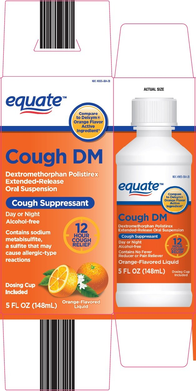 equate cough dm  suspension  wal