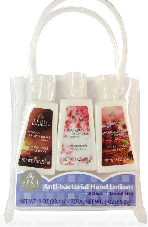 April Bath And Shower april bath and shower anti-bacterial hand 3 pack (kit) greenbrier