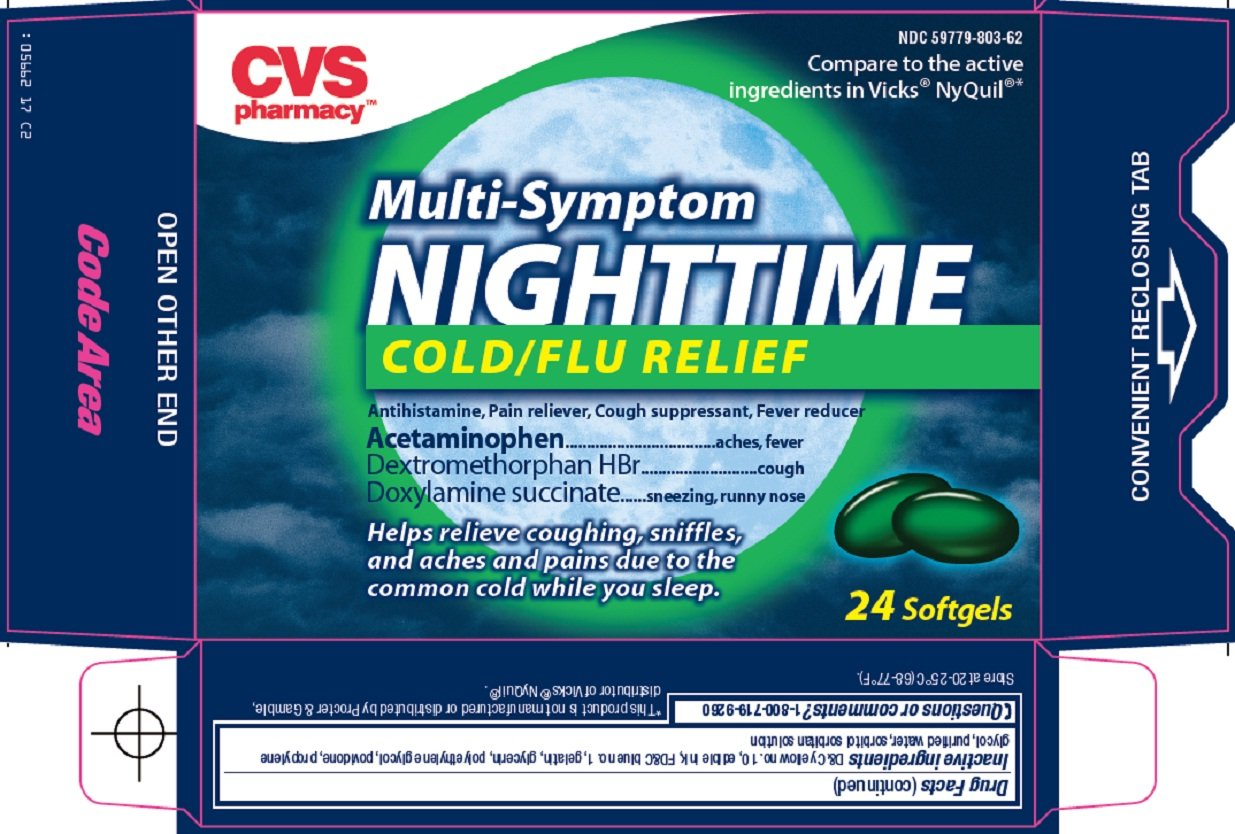 nighttime cold flu relief  capsule  gelatin coated  cvs