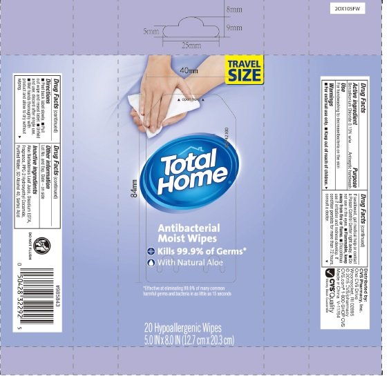 cvs total home antibacterial moist wipes  swab  cvs pharmacy