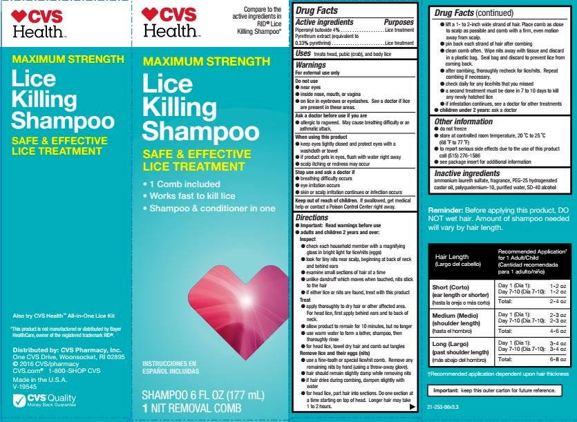 cvs health lice killing  shampoo  cvs