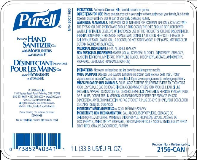 Purell Advanced Instant Hand Sanitizer With Aloe 4 25 Oz Bottle