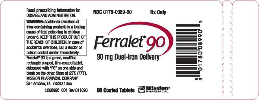 Ferralet 90 Fda Prescribing Information Side Effects
