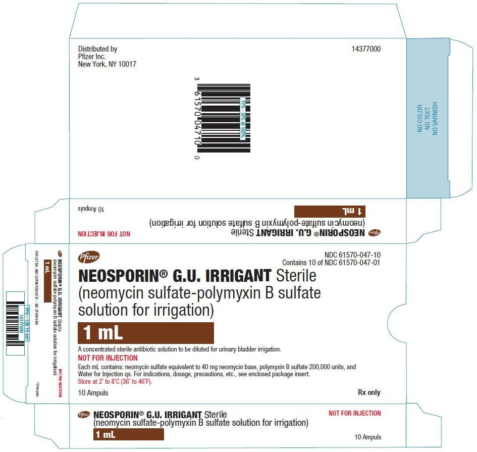 Neosporin G.U - FDA prescribing information, side effects