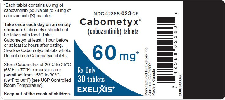 Cabometyx - FDA prescribing information, side effects and uses