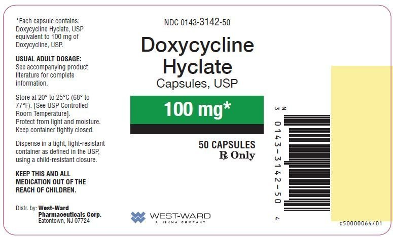 Doxycycline Hyclate - FDA prescribing information, side