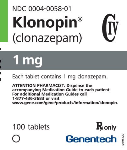 klonopin drug test prescription