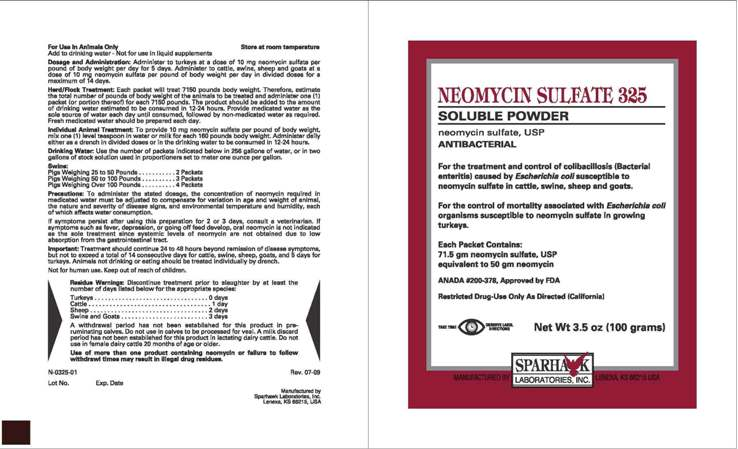 Neomycin Sulfate 325 - FDA prescribing information, side