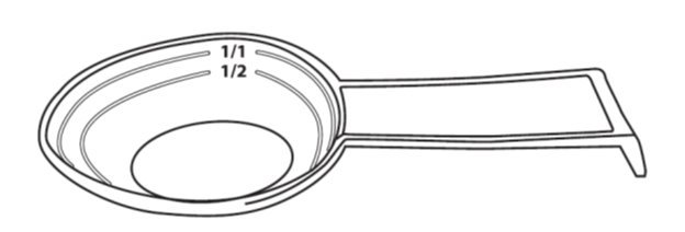gradated spoon