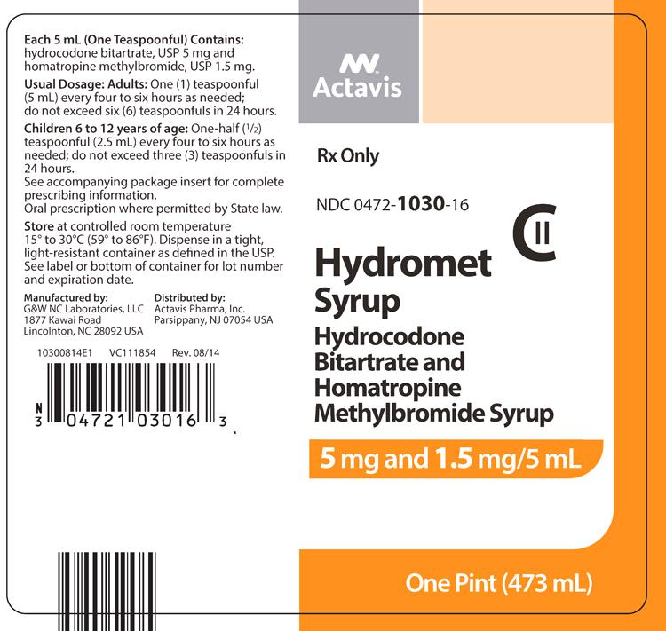 hydromet 5 1 5mg 5ml syrup pronunciation